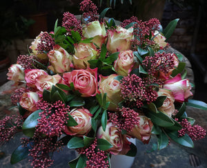 Antique Roses Arrangemant - Yeomans Flowers in London NW1
