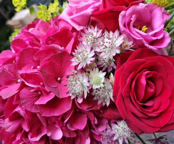 Ruby Toned ( Florals are available in your choice of color ) - Yeomans Flowers