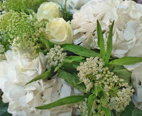 White & Green ( Florals are available in your choice of color ) - Yeomans Flowers