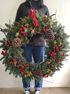 Tradition Christmas Wreath - Yeomans Flowers in London NW1