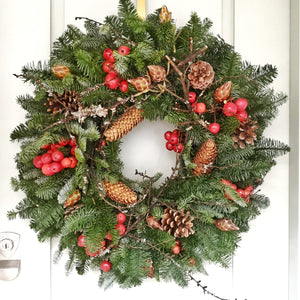 Christmas Wreath - traditional - Yeomans Flowers