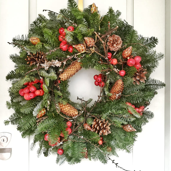 Christmas Wreath - traditional - Yeomans Flowers in London NW1