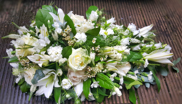 Lily and Rose Teardrop Spray *** - Yeomans Flowers in London NW1