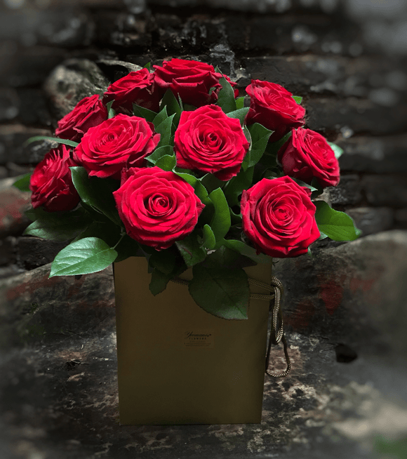 Luxury Red Roses Bouquet - Yeomans Flowers