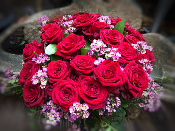 Luxury Red Naomi Bouquet. - Yeomans Flowers
