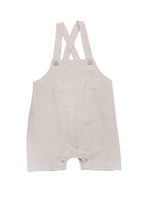 Load image into Gallery viewer, Hemming overalls - Taupe Stripe
