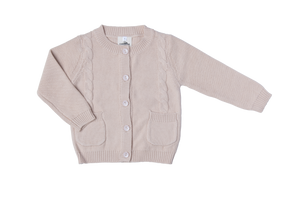 Boys Knitted Cardigan Beige