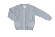 Load image into Gallery viewer, Boys Knitted Cardigan Grey