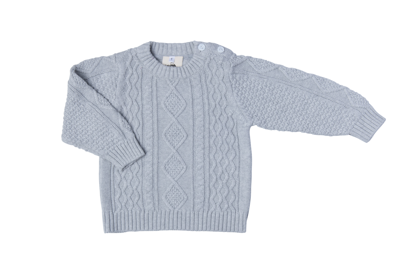Cotton knitted Jumper - Cloud grey