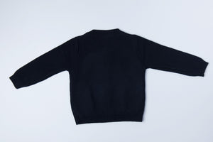 Knitted Cardigan - Midnight Blue