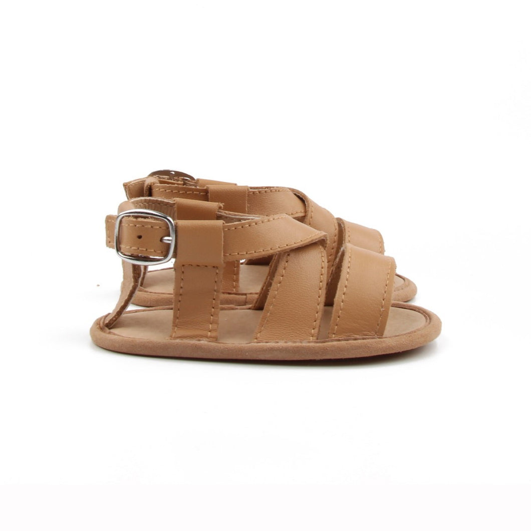 Boys soft sole leather sandals