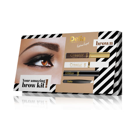 Brown Eyebrow Expert Kit | Delia
