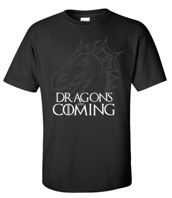 JCSD - Dragons are Coming Tshirt (Mens/Unisex)
