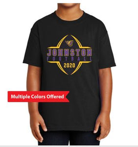 Johnston Football '20 - Youth 100% Cotton T-Shirt (Football Design)