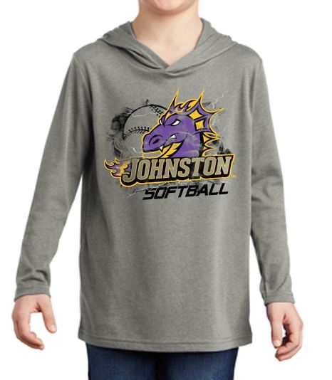 Johnston Select Softball - Youth Triblend Long Sleeve Hoodie
