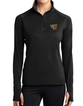 Fall PTO '20 - Ladies Black Sport-Tek 1/2 Zip Pullover (EMB)