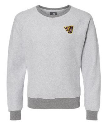 JCSD  - Men's/Unisex Flip Side Crewneck Pullover in Multiple Colors (Fire J EMB)