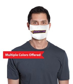 Johnston Football '20 - 100% Cotton 3-Ply Fabric Face Mask (Fire Johnston)