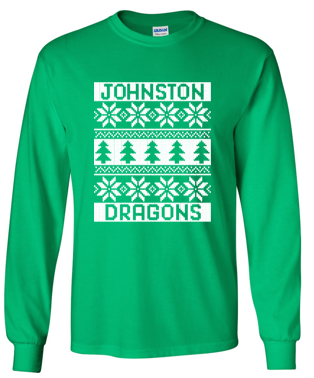 Winter PTO 19 - Youth/Adult 100% Cotton Long Sleeve TS in Multiple Colors (Christmas Sweater)