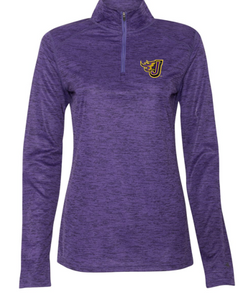 Spring PTO 2021 - Ladies Purple Tonal Blend Quarter-Zip Pullover (EMB)