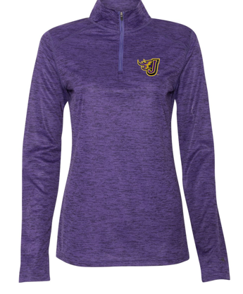 Winter PTO 19 - Ladies Purple Tonal Blend Quarter-Zip Pullover (EMB)