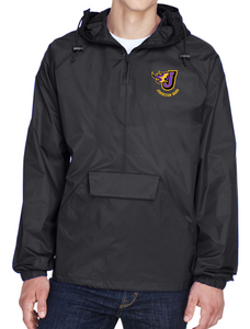 Johnston Band - Adult Quarter-Zip Hooded Pullover Jacket (Embroidery Design)