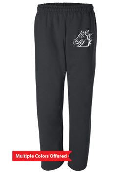 Winter PTO '20 - Unisex Open-Bottom Sweatpants with Pockets (Dragon Head)