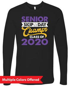 Summer PTO '20 - Adult 100% Cotton Long Sleeve T-Shirt (Senior Skip Color)
