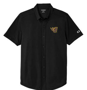 JCSD - Men's/Unisex Gravitate Full-Button Polo in Multiple Color (Fire J EMB)