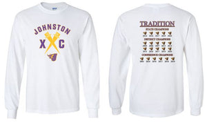 Johnston Cross Country Traditions - Unisex 100% Cotton Long SLeeve T-Shirt