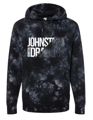 JCSD - Mens/Unisex Midweight Tie-Dye Hooded Sweatshirt (Slant Johnston Dragons)