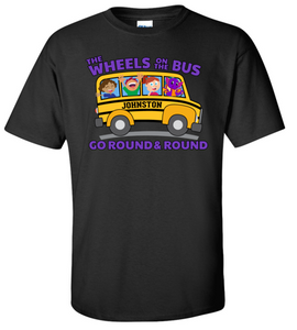 JCSD - Wheels on the Bus Tshirt in Various Colors (Toddler/Youth)
