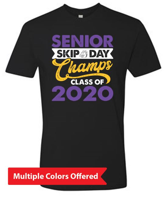 Summer PTO '20 - Adult 100% Cotton T-Shirt (Senior Skip Color)