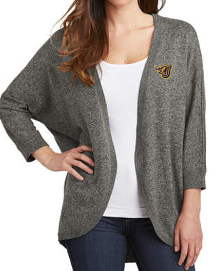 CLOSEOUT - Ladies Marled Cocoon Sweater (EMB)