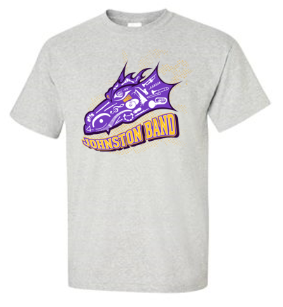 Johnston Band- Adult 100% Cotton T'Shirt in Multiple Colors (Dragon Design)