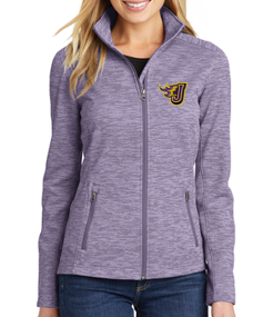Spring PTO '20 - Ladies Digi Stripe Fleece Jacket (EMB)
