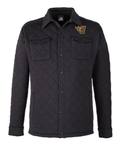 JCSD - Men's/Unisex Quilted Jersey Shirt Jac in Multiple Colors (Fire J EMB)