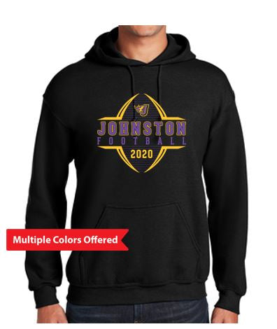 Johnston Football '20 - Adult Hooded Sweatshirt (Football Design)