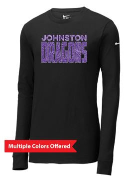 Fall PTO '20 - Adult Nike Cotton Long Sleeve T-shirt (Dragon Scales)