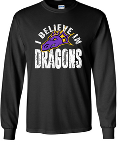 JCSD - I Believe in Dragons Long Sleeve Tshirt (Mens/Unisex)