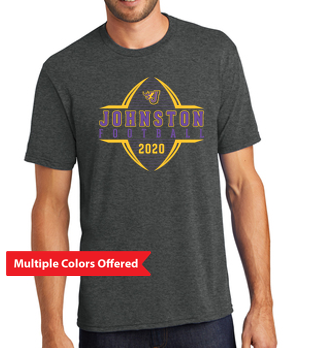 Johnston Football '20 - Unisex/Adult Triblend Tshirt (Football Design)