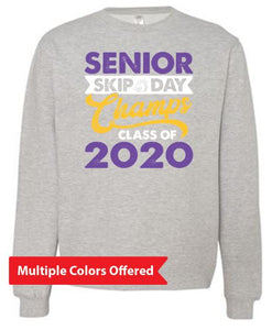 Summer PTO '20 - Adult Midweight Crew Neck Sweatshirt (Senior Skip Color)