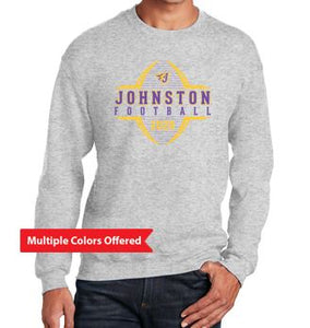 Johnston Football '20 - Youth/Adult Crewneck Sweatshirt (Football Design)