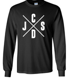 JCSD - J/C/S/D Long Sleeve Tshirt in Multiple Colors (Mens/Unisex)