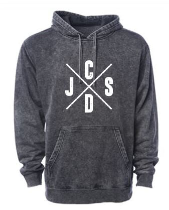 JCSD - Men's/Unisex Mineral Wash Hooded Sweatshirt (J/C/S/D)