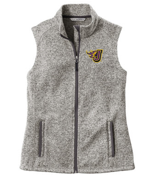 Spring PTO '20  - Ladies Grey Heather Sweater Fleece Vest (EMB)