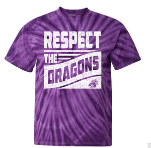 CLOSEOUT - Youth/Adult Purple Tie-Dye Tshirt (Respect Design)