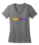 CLOSEOUT - Ladies 100% Cotton Vneck Tshirt (Barcode)