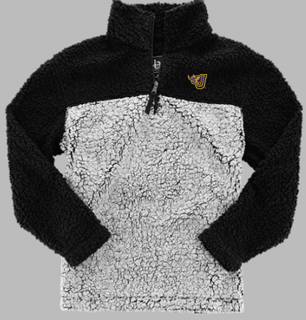Winter PTO 19 - Ladies Black/Grey Sherpa 1/4 Zip Pullover (EMB)
