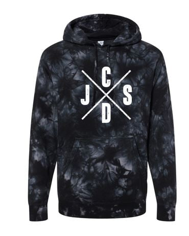 JCSD - Men's/Unisex Tie-Dye Hooded Sweatshirt (J/C/S/D)